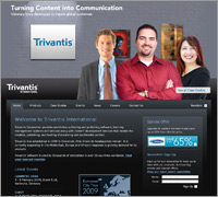 Trivantis website screenshot